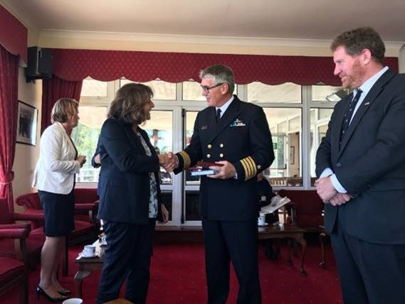 Captain-Brian-Fitzgerald-Deputy-in-Command-Irish-Naval-Service-Head-of-Government-of-Maine-Delegation-to-Ireland-Mrs-Denise-Garland-Irish-Naval-Service-HQ-Haulbowline.jpg March 4, 2021