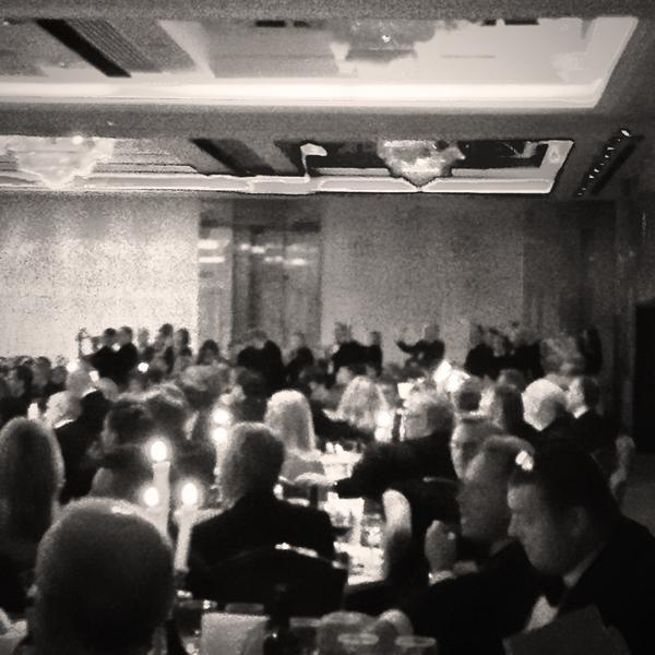 Michael Kingston, receives a standing ovation for Maritime Lawyer of the Year award, London 2014