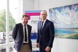 Michael Kingston with An Tánaiste Simon Coveney T.D, April 2018, pictured at the Irish Cultural Centre (ICC) Hammersmith, London in advance of the visit of the 8 Arctic States to ICC.